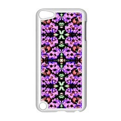 Purple Green Flowers With Green Apple Ipod Touch 5 Case (white)