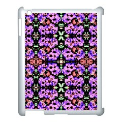 Purple Green Flowers With Green Apple Ipad 3/4 Case (white)