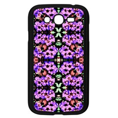 Purple Green Flowers With Green Samsung Galaxy Grand Duos I9082 Case (black)