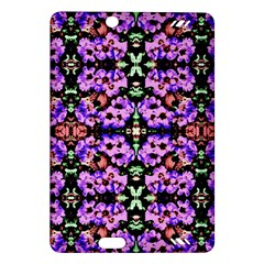 Purple Green Flowers With Green Kindle Fire Hd (2013) Hardshell Case by Costasonlineshop