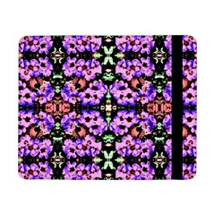Purple Green Flowers With Green Samsung Galaxy Tab Pro 8.4  Flip Case by Costasonlineshop