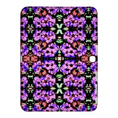 Purple Green Flowers With Green Samsung Galaxy Tab 4 (10 1 ) Hardshell Case  by Costasonlineshop
