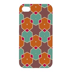 Stars And Honeycombs Pattern			apple Iphone 4/4s Premium Hardshell Case by LalyLauraFLM