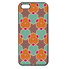 Stars And Honeycombs Patternapple Iphone 5 Seamless Case (black) by LalyLauraFLM
