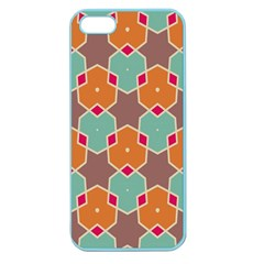 Stars And Honeycombs Pattern			apple Seamless Iphone 5 Case (color) by LalyLauraFLM