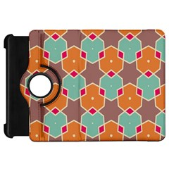 Stars And Honeycombs Pattern			kindle Fire Hd Flip 360 Case by LalyLauraFLM