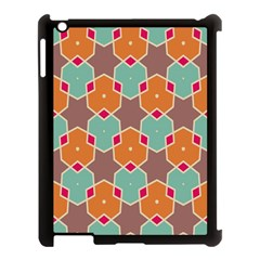 Stars And Honeycombs Pattern			apple Ipad 3/4 Case (black) by LalyLauraFLM
