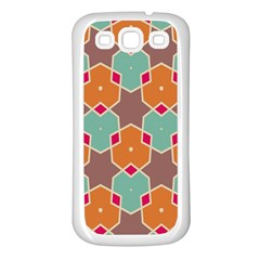 Stars And Honeycombs Patternsamsung Galaxy S3 Back Case (white) by LalyLauraFLM