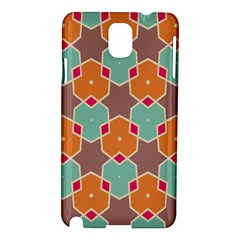 Stars And Honeycombs Patternsamsung Galaxy Note 3 N9005 Hardshell Case by LalyLauraFLM