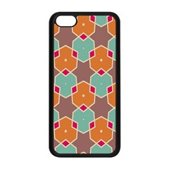 Stars And Honeycombs Patternapple Iphone 5c Seamless Case (black) by LalyLauraFLM