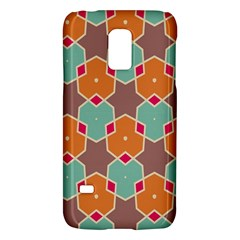 Stars And Honeycombs Pattern			samsung Galaxy S5 Mini Hardshell Case by LalyLauraFLM