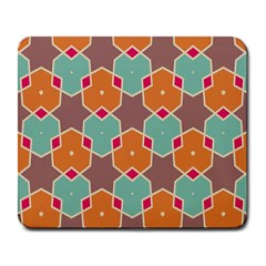 Stars And Honeycombs Patternlarge Mousepad by LalyLauraFLM