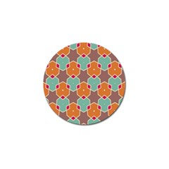Stars And Honeycombs Patterngolf Ball Marker (4 Pack) by LalyLauraFLM