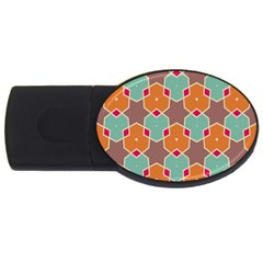 Stars And Honeycombs Patternusb Flash Drive Oval (2 Gb) by LalyLauraFLM