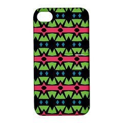 Shapes On A Black Background Pattern			apple Iphone 4/4s Hardshell Case With Stand by LalyLauraFLM