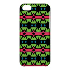 Shapes On A Black Background Pattern			apple Iphone 5c Hardshell Case by LalyLauraFLM