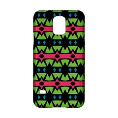Shapes On A Black Background Patternsamsung Galaxy S5 Hardshell Case by LalyLauraFLM