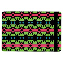 Shapes On A Black Background Pattern			apple Ipad Air Flip Case by LalyLauraFLM