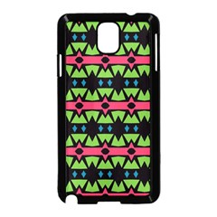 Shapes On A Black Background Pattern			samsung Galaxy Note 3 Neo Hardshell Case (black) by LalyLauraFLM