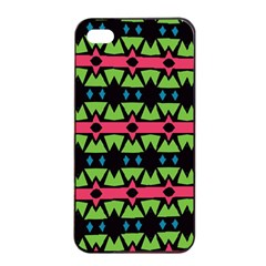 Shapes On A Black Background Pattern			apple Iphone 4/4s Seamless Case (black) by LalyLauraFLM