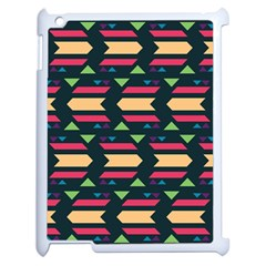 Triangles And Other Shapesapple Ipad 2 Case (white) by LalyLauraFLM