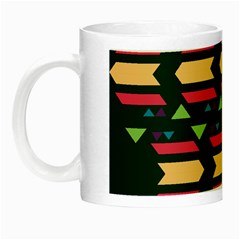 Triangles And Other Shapes Night Luminous Mug by LalyLauraFLM