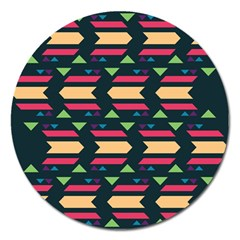 Triangles And Other Shapes			magnet 5  (round) by LalyLauraFLM