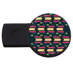 Triangles And Other Shapesusb Flash Drive Round (2 Gb) by LalyLauraFLM