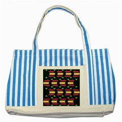 Triangles And Other Shapesstriped Blue Tote Bag by LalyLauraFLM