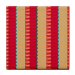 Stripes And Other Shapestile Coaster by LalyLauraFLM