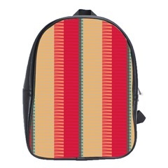 Stripes and other shapes			School Bag (Large) by LalyLauraFLM