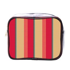 Stripes And Other Shapesmini Toiletries Bag (one Side) by LalyLauraFLM