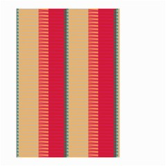Stripes And Other Shapes Small Garden Flag by LalyLauraFLM