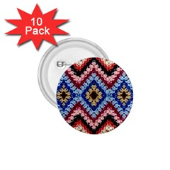 Colorful Diamond Crochet 1 75  Buttons (10 Pack)