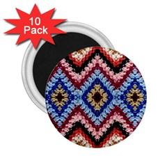 Colorful Diamond Crochet 2 25  Magnets (10 Pack)