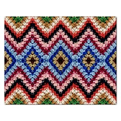Colorful Diamond Crochet Rectangular Jigsaw Puzzl