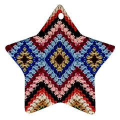 Colorful Diamond Crochet Star Ornament (two Sides)