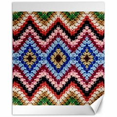 Colorful Diamond Crochet Canvas 16  X 20