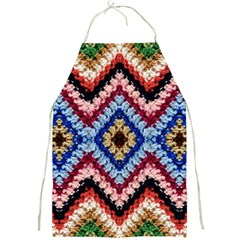 Colorful Diamond Crochet Full Print Aprons