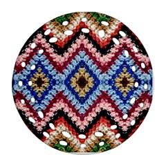 Colorful Diamond Crochet Round Filigree Ornament (2side)