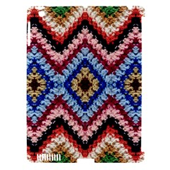 Colorful Diamond Crochet Apple Ipad 3/4 Hardshell Case (compatible With Smart Cover)