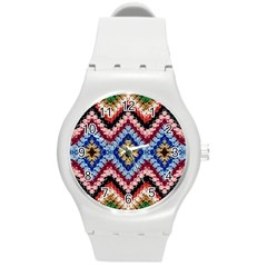 Colorful Diamond Crochet Round Plastic Sport Watch (m) by Costasonlineshop