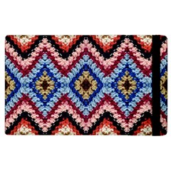 Colorful Diamond Crochet Apple iPad 3/4 Flip Case by Costasonlineshop