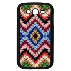 Colorful Diamond Crochet Samsung Galaxy Grand Duos I9082 Case (black)