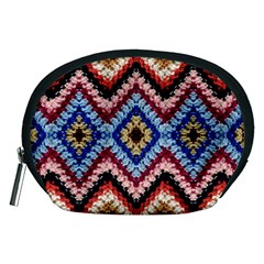 Colorful Diamond Crochet Accessory Pouches (medium)  by Costasonlineshop