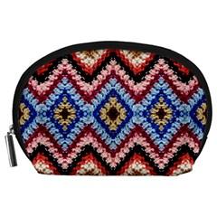 Colorful Diamond Crochet Accessory Pouches (large)