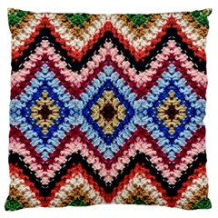 Colorful Diamond Crochet Standard Flano Cushion Cases (two Sides)