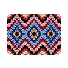 Colorful Diamond Crochet Double Sided Flano Blanket (mini)
