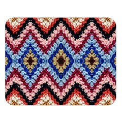 Colorful Diamond Crochet Double Sided Flano Blanket (large)  by Costasonlineshop