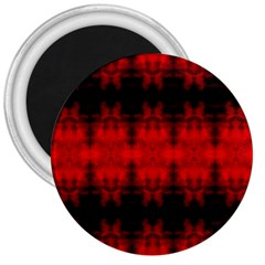 Red Black Gothic Pattern 3  Magnets by Costasonlineshop